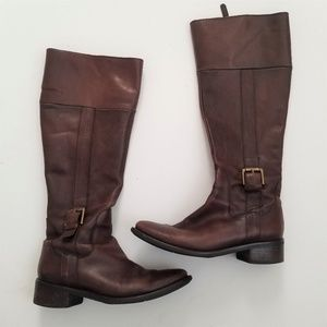 ⛄ SALE ⛄ AUTH Cole Haan Tall Brown Leather Boots